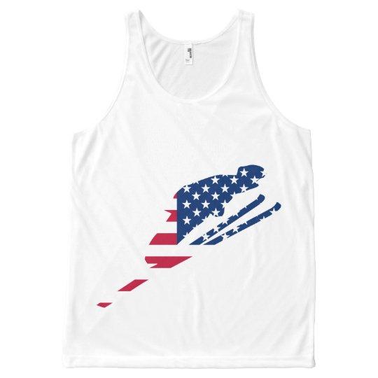 USA Flag of America Skiing American All-Over-Print Tank Top