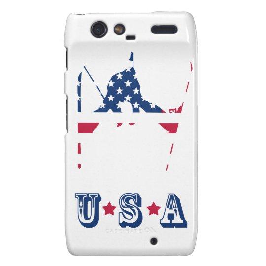 USA Flag of America Skiing American Motorola Droid RAZR Case