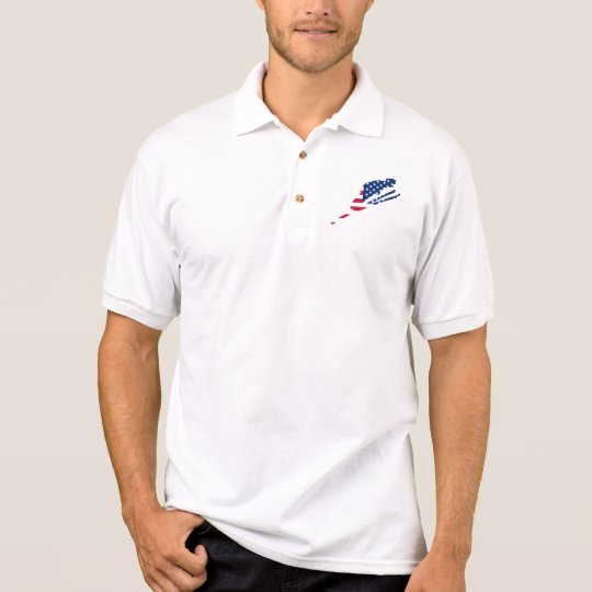 USA Flag of America Skiing American Polo Shirt