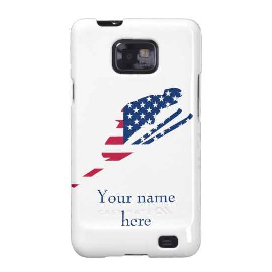 USA Flag of America Skiing American Samsung Galaxy SII Cover