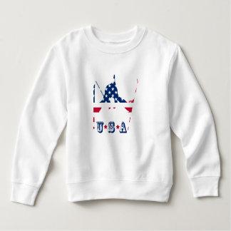 USA Flag of America Skiing American Sweatshirt
