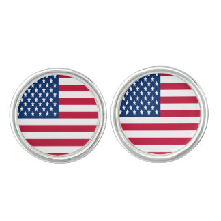USA flag of stars and stripes Cufflinks