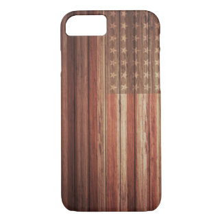 USA FLAG OLD WOOD iPhone 7 CASE