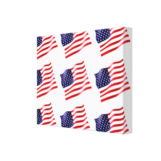 USA Flag on Canvas (Tiled)