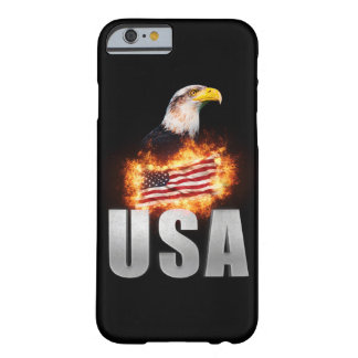 USA Flag on fire with Bald Eagle 4th of July Barely There iPhone 6 Case