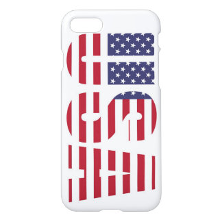 USA flag on iPhone 8/7 glossy case