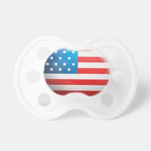"""""""USA Flag"""" Baby Pacifier"""