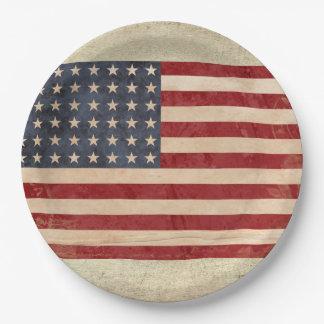 USA Flag Paper Plates