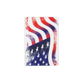 USA flag Passport Holder