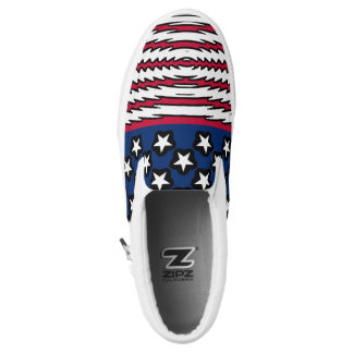 USA Flag Patriotic American Slip-On Sneakers