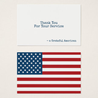 USA Flag Patriotic Thank You Business Card