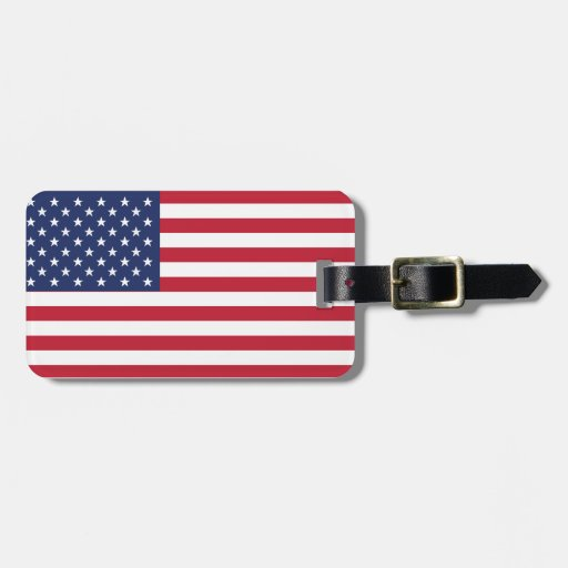 USA Flag Pattern. Perfect Patriotic Gift. American Luggage Tags