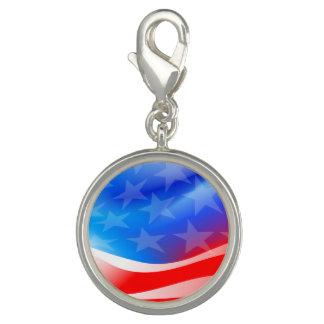 USA flag Photo Charm