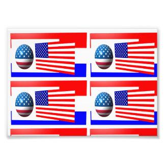usa flag photo paper
