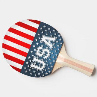 USA Flag Ping Pong Paddle