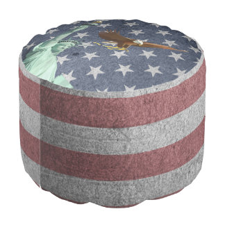 Usa flag pouf
