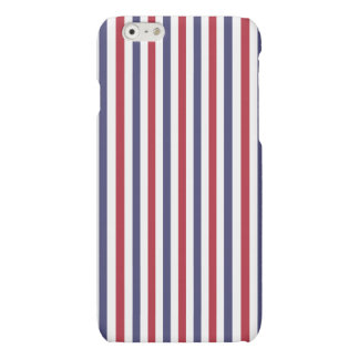 USA Flag Red and Flag Blue Narrow Thin Stripes