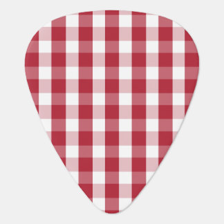 USA Flag Red and White Gingham Checked Pick