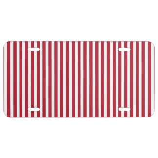 USA Flag Red and White Stripes License Plate