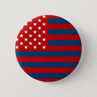 USA Flag - Red Stencil 2 Inch Round Button