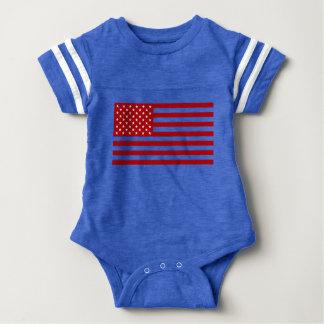 USA Flag - Red Stencil Baby Bodysuit