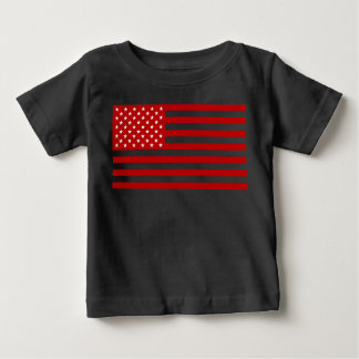 USA Flag - Red Stencil Baby T-Shirt