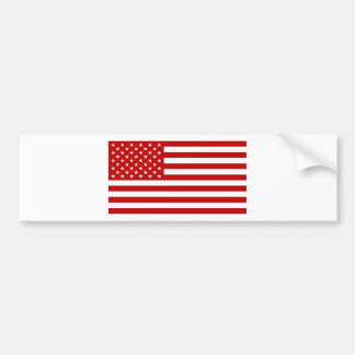 USA Flag - Red Stencil Bumper Sticker