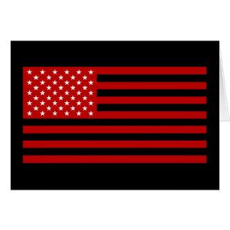 USA Flag - Red Stencil Card