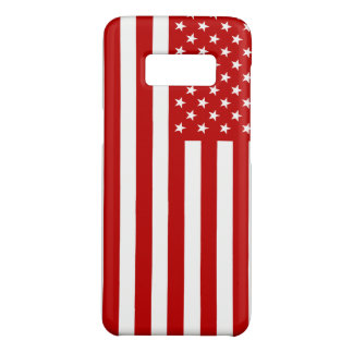 USA Flag - Red Stencil Case-Mate Samsung Galaxy S8 Case