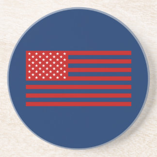 USA Flag - Red Stencil Coaster