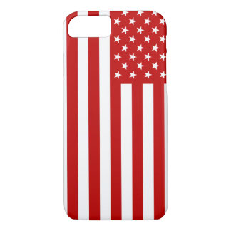 USA Flag - Red Stencil iPhone 8/7 Case