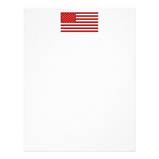USA Flag - Red Stencil Letterhead