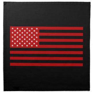 USA Flag - Red Stencil Napkin
