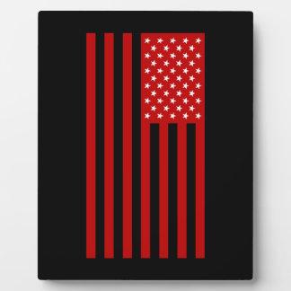 USA Flag - Red Stencil Plaque