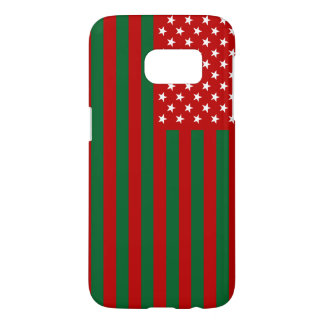 USA Flag - Red Stencil Samsung Galaxy S7 Case