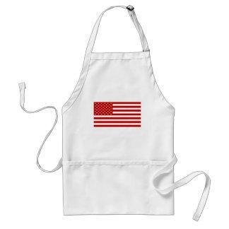 USA Flag - Red Stencil Standard Apron