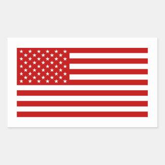 USA Flag - Red Stencil Sticker