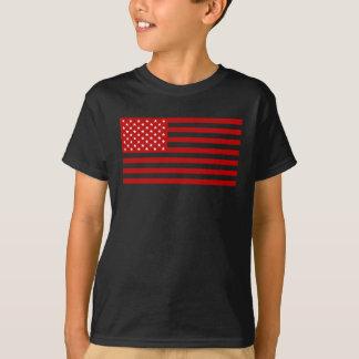 USA Flag - Red Stencil T-Shirt