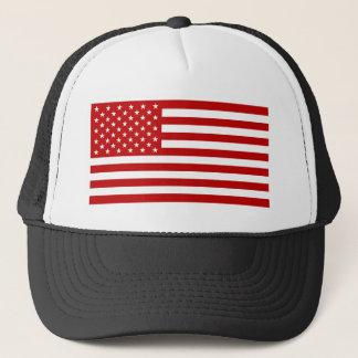 USA Flag - Red Stencil Trucker Hat