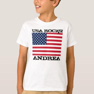 USA Flag Rocks T-Shirt