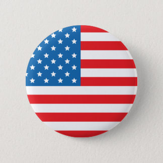 USA Flag Round Button