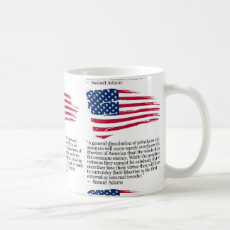 USA FLAG SAMUEL ADAMS COFFEE MUG