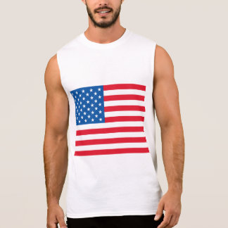 USA Flag Sleeveless Shirt