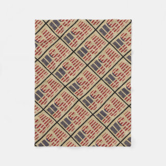 USA Flag Stamp Fleece Blanket