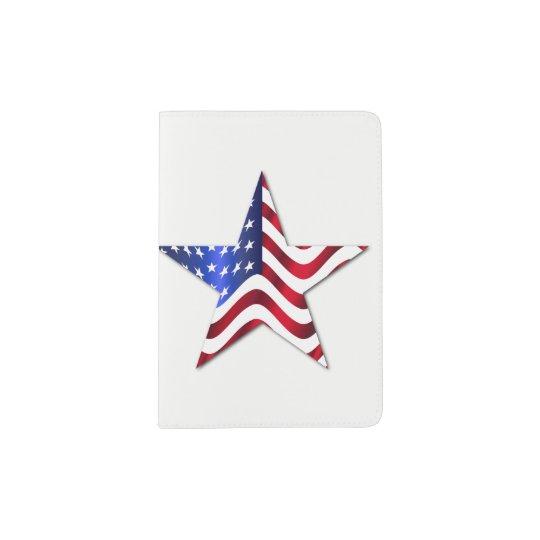 Usa Flag Star Custom Passport Holder