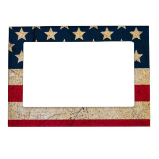 USA Flag Stars and Stars Magnetic Picture Frame