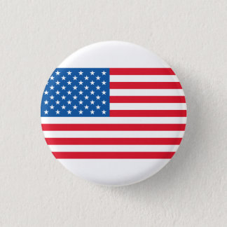 USA Flag stars and stripes 1 Inch Round Button