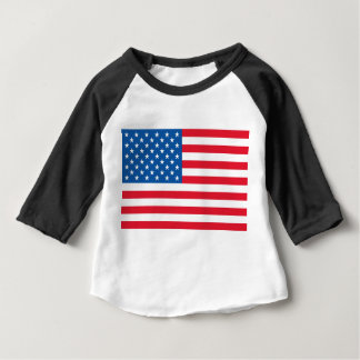 USA Flag stars and stripes Baby T-Shirt