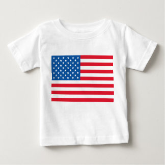 USA Flag stars and stripes Baby T-Shirt