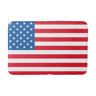 USA Flag stars and stripes Bath Mat